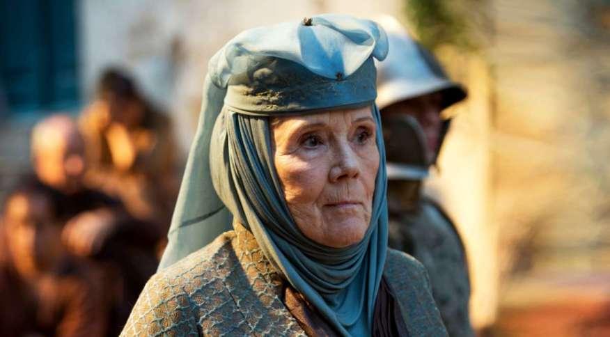 Diana Rigg ganhou fama mais recentemente no papel da Olenna Tyrell, em 'Game of Thrones'