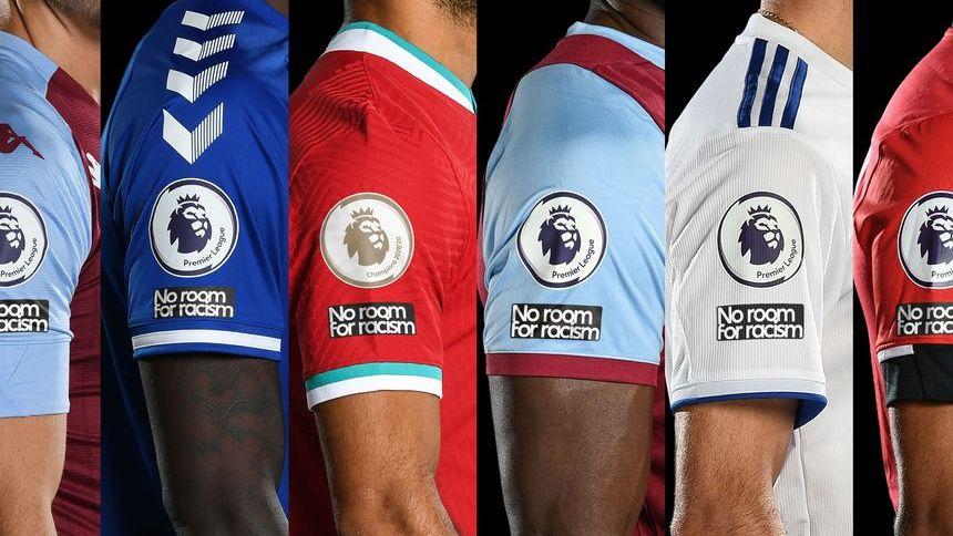 Camisas de times da Premiere League na temporada 2020/21 terão emblema que diz 'No Room For Racism' (Sem Espaço Para Racismo)