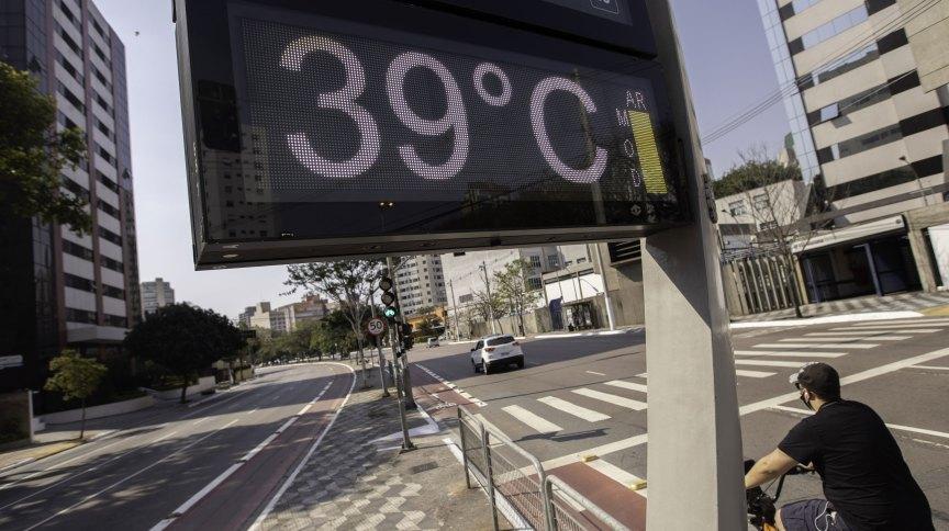 Termômetro marca 39ºC na zona sul de São Paulo