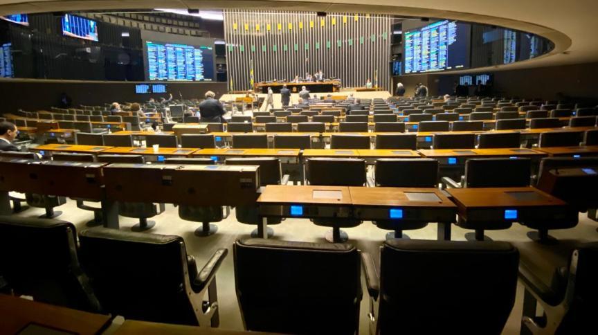Plenário da Câmara esvaziado na votação do decreto da calamidade pública em março