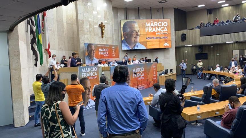 O ex-governador Márcio França é confirmado como o candidato do PSB a prefeito de São Paulo