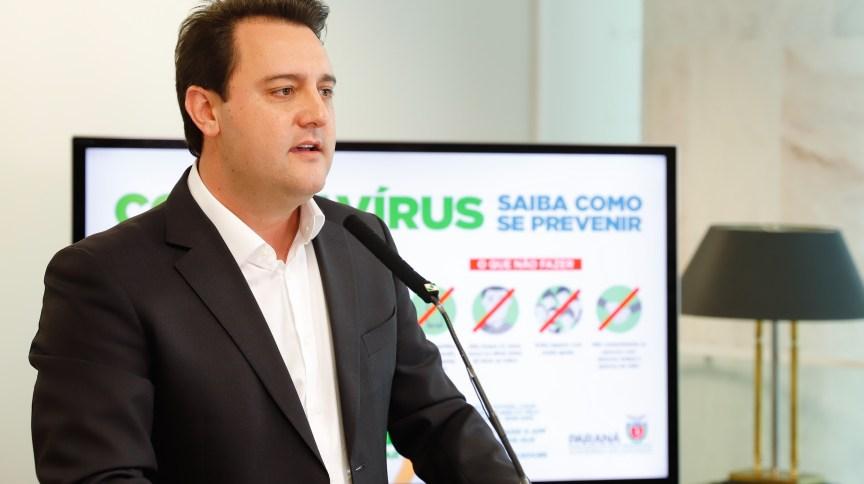 O governador do Paraná, Ratinho Júnior (PSD)