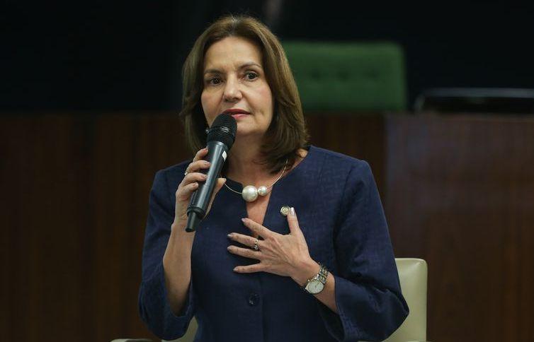 A delegada aposentada e deputada estadual Martha Rocha, candidata a prefeita do Rio de Janeiro pelo PDT