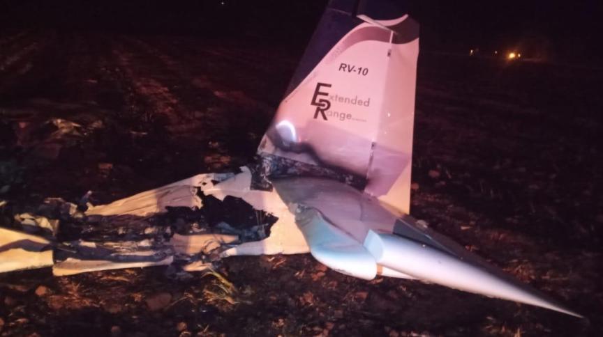 Destroços de avião que caiu no interior de SP