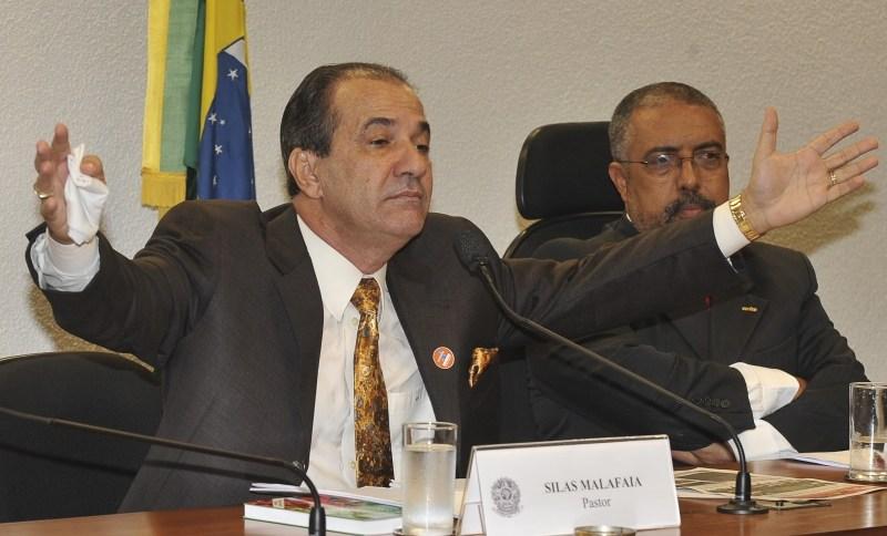 Pastor Silas Malafaia durante audiência pública para debater um projeto de lei da Câmara (29.nov.2011)