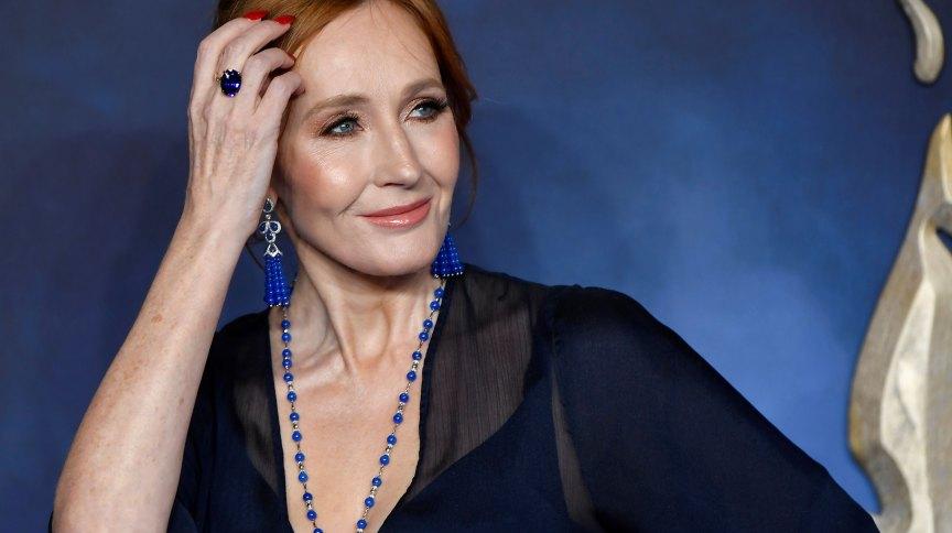 A escritora britânica JK Rowling