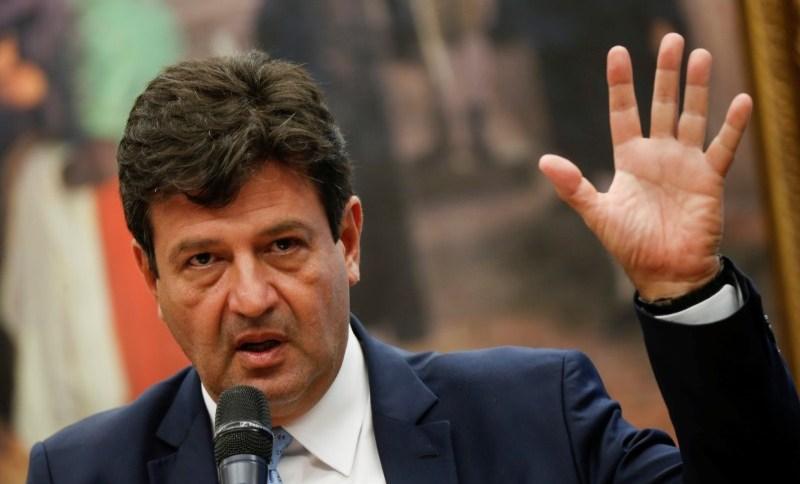 O Ministro da Saúde, Luiz Henrique Mandetta: estratégia do Planalto é cobrar resultados contra COVID-19