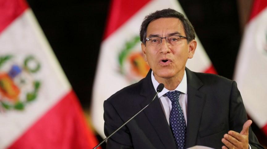 O presidente do Peru, Martín Vizcarra