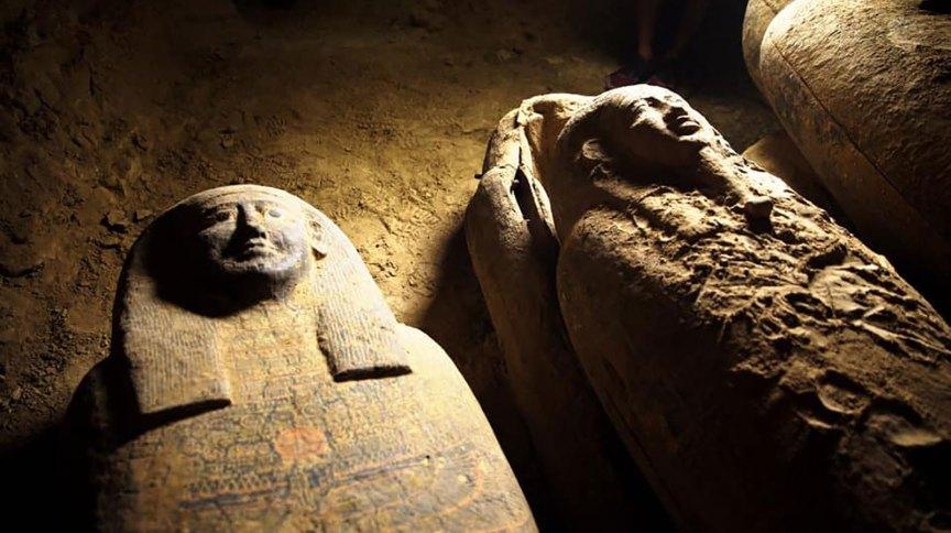 Sarcófagos descobertos no Egito (Arquivo)
