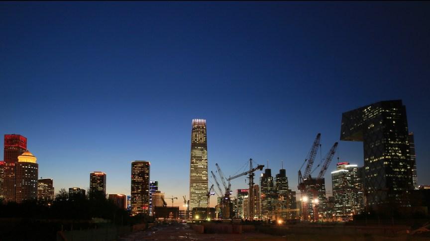 Visão noturna de Beijing