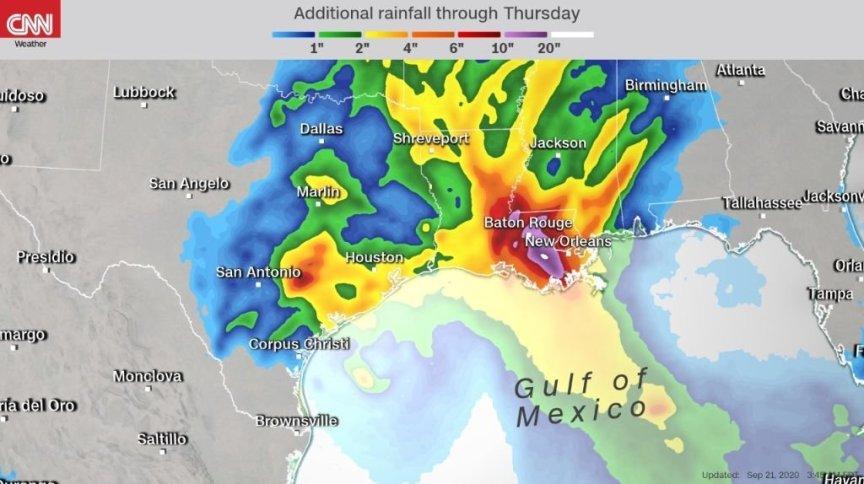Autoridades emitiram alertas para as áreas costeiras do Texas e de Louisiana