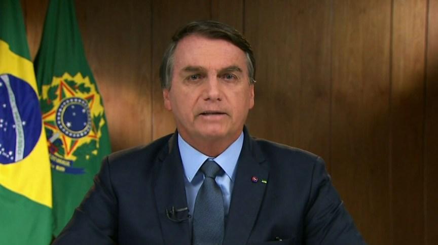 O presidente Jair Bolsonaro na abertura da Assembleia Geral da ONU