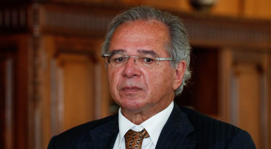O ministro da Economia, Paulo Guedes, durante assinatura do termo de posse de novo presidente do Banco do Brasil