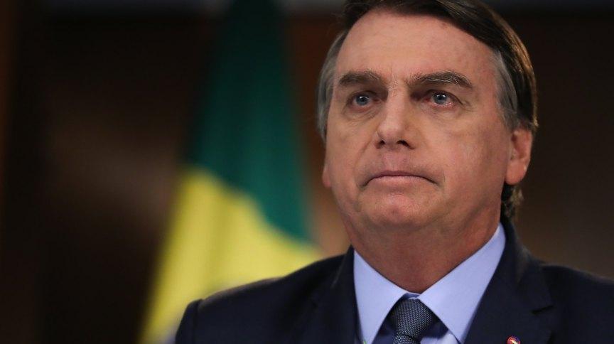 O presidente Jair Bolsonaro durante gravação de discurso para Assembleia-Geral da ONU