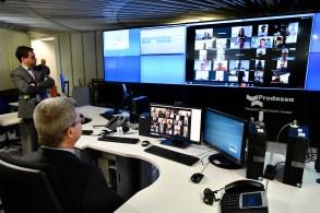 Senadores se reuniram em sessão virtual remota para votar estado de calamidade pública diante do aumento de casos de COVID-19