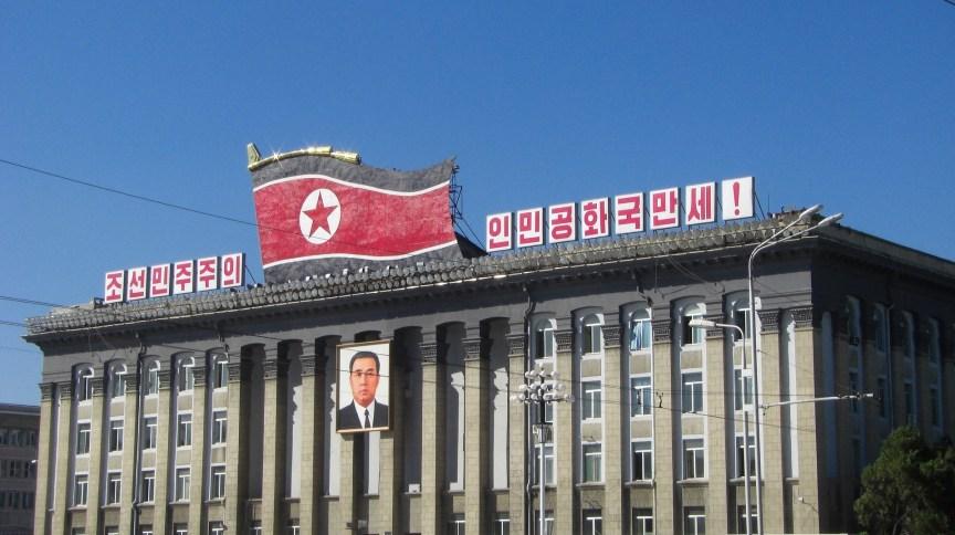 Prédio em Pyongyang, capital da Coreia do Norte