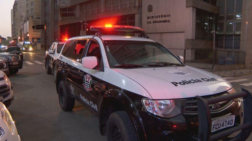 Viaturas da Polícia Civil em São Paulo. Imagem ilustrativa