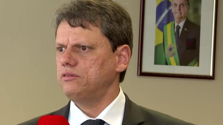 Tarcisio Freitas, ministro da Infraestrutura: governo quer arrecadar bilhões com leilões