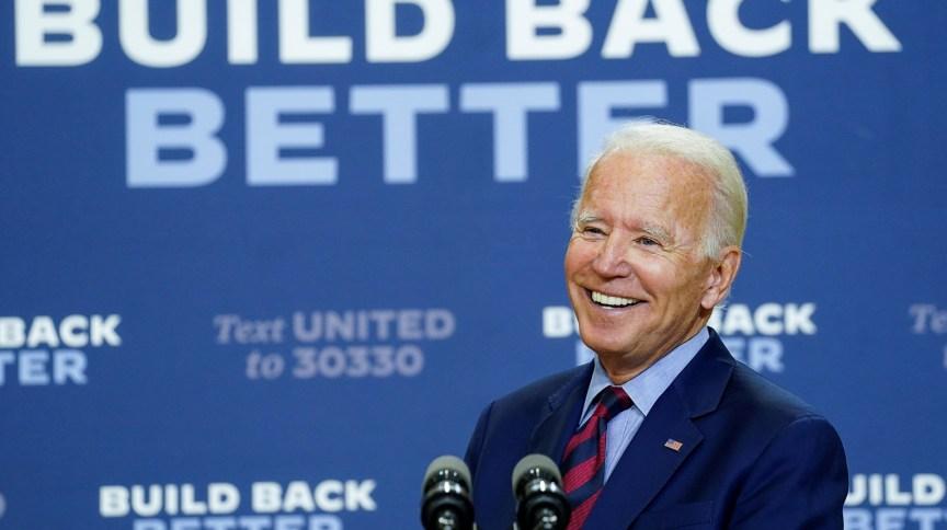 O candidato democrata à presidência dos EUA Joe Biden