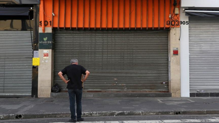 Comércio fechado em São Paulo (20.mar.2020)