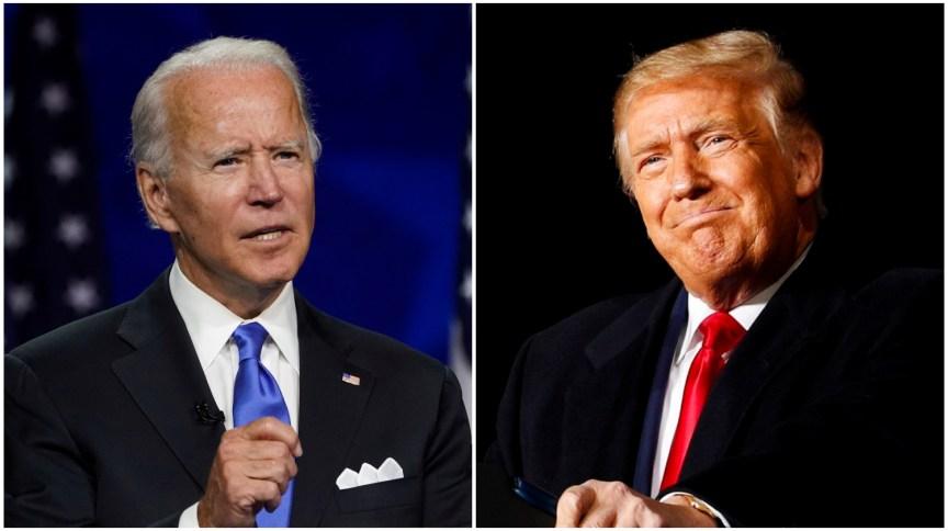 Os candidatos democrata, Joe Biden, e republicano, Donald Trump, à presidência dos EUA