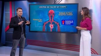 De acordo com o médico Fernando Gomes, pessoas com problemas cardíacos podem ter alterações adicionais por conta do calor