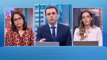 Priscila Pâmela e Maria Fernanda Saad participam da edição matinal do quadro O Grande Debate, da CNN