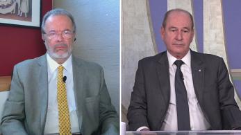 Renata Agostini e Caio Junqueira ouviram as opiniões sobre soberania nacional do ex-ministro da Defesa e do atual responsável pela pasta