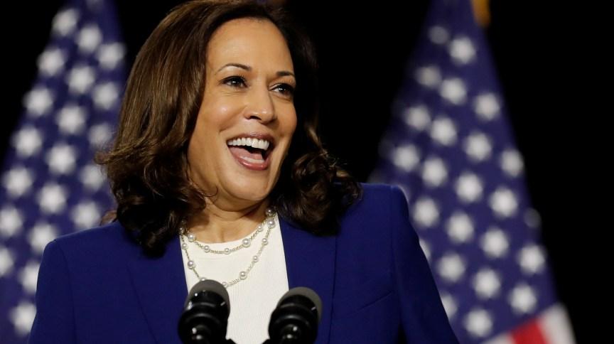 A candidata à vice-presidência dos EUA Kamala Harris