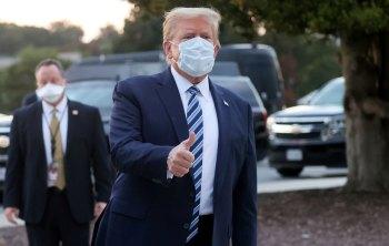 O presidente norte-americano deixou o hospital após três dias internado em função da Covid-19
