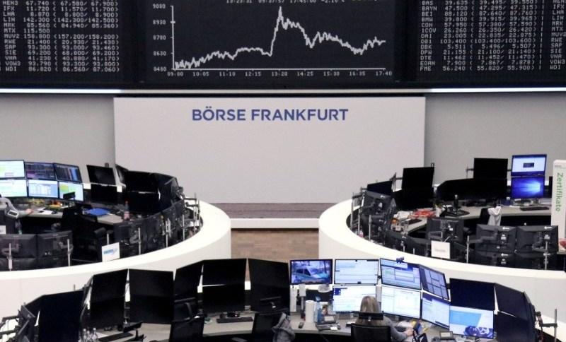 Gráfico do índice DAX, na bolsa de valores de Frankfurt, na Alemanha (23.FEV.2020)