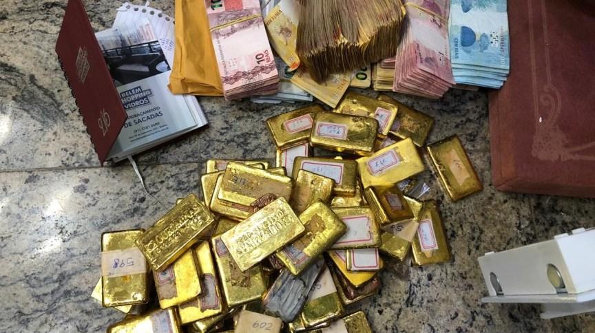 Ouro apreendido pela Polícia Federal na Operação Ouro Frio