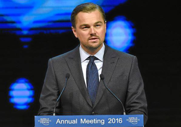 O ator Leonardo DiCaprio: Um dos milhares de investidores que prometeram não apostar nos combustíveis fósseis