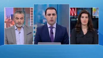 Thiago Anastácio e Gisele Soares participam da edição matinal do quadro O Grande Debate, da CNN