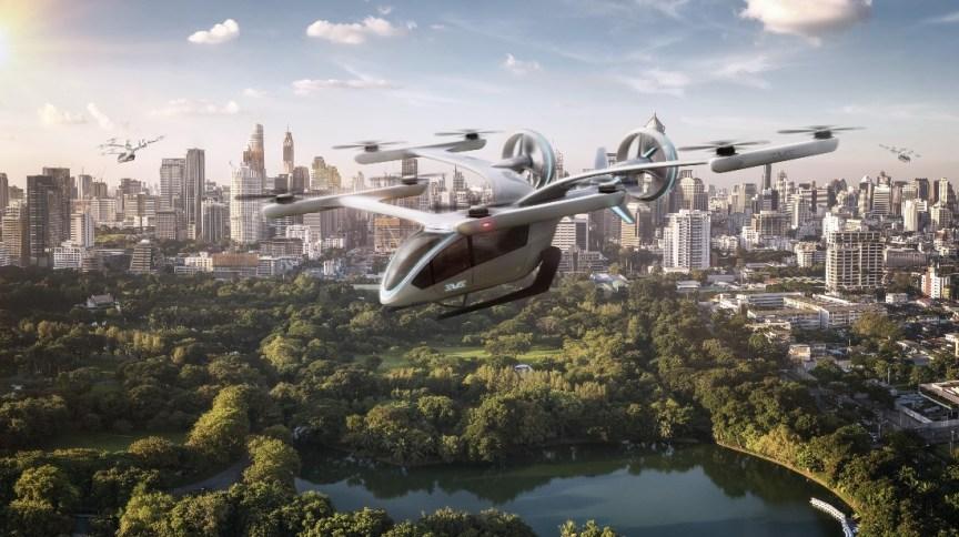 Projeto do eVTOL, carro voador da Embraer