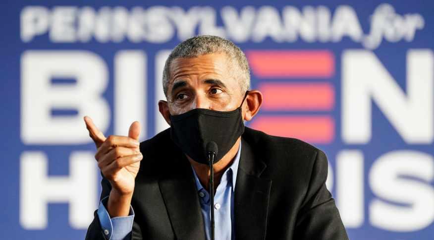 Ex-presidente dos EUA Barack Obama em ato de campanha para Joe Biden