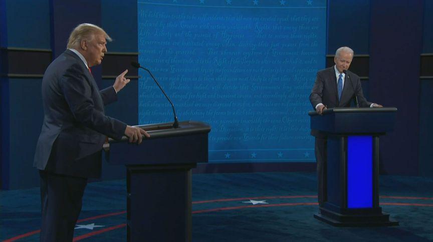 O republicano Donald Trump e o democrata Joe Biden