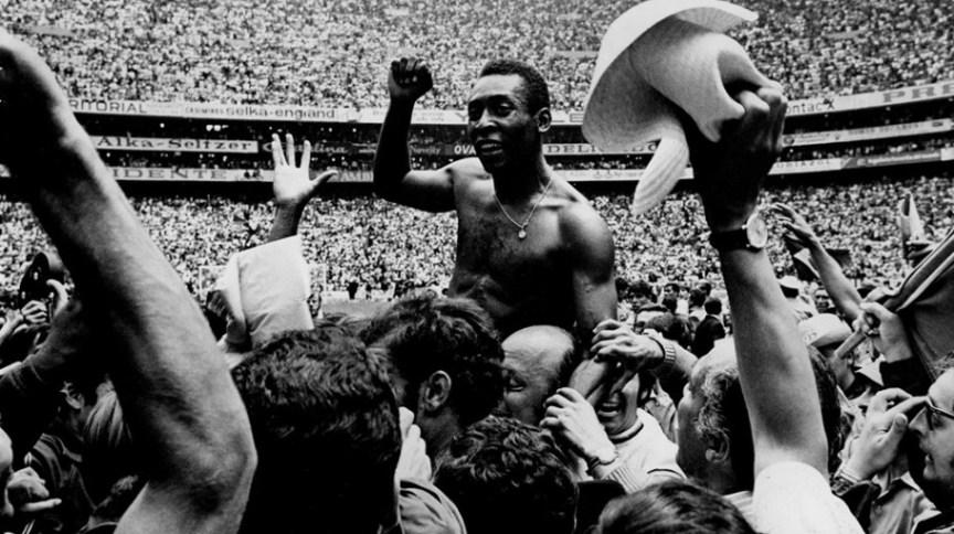 Edson Arantes do Nascimento, o Pelé, na Copa do Mundo de 1970