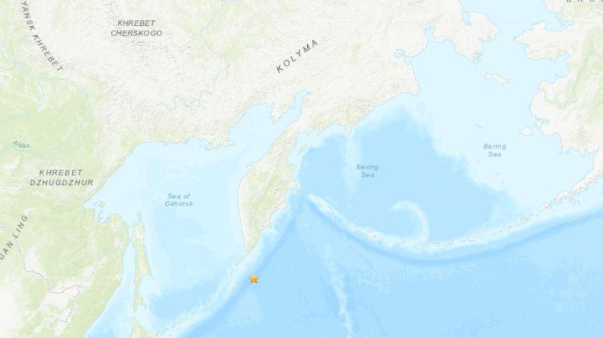 Estrela indica área de epicentro de terremoto registrado no leste russo