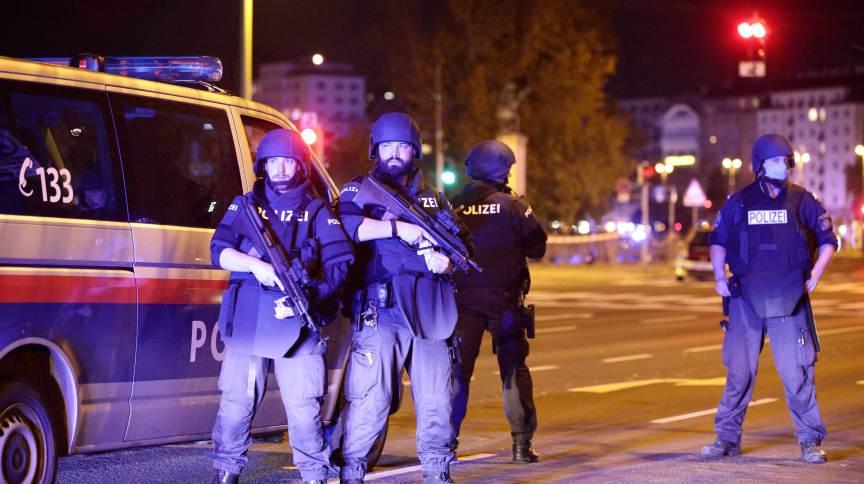 Policiais reforçam segurança na área central de Viena
