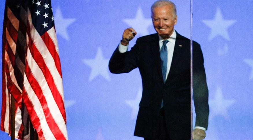 O candidato democrata à presidência dos EUA, Joe Biden