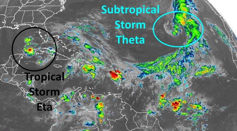 Tempestades Eta e Theta