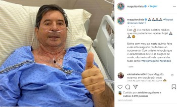 Vilela está internado na capital paulista desde o dia 27 de outubro, para tratamento da doença do novo coronavírus