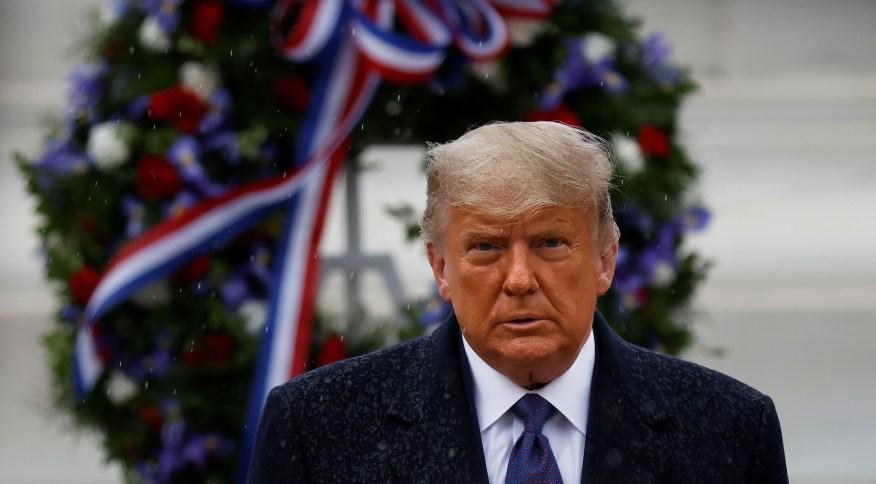 O atual presidente dos EUA, Donald Trump