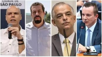 Empatados tecnicamente em segundo lugar estão Guilherme Boulos, com 17%; Márcio França, com 14%; e Celso Russomanno, com 13%