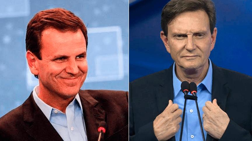 Candidatos à prefeitura do Rio no 2º turno, Eduardo Paes (DEM) e Marcelo Crivella (Republicanos)