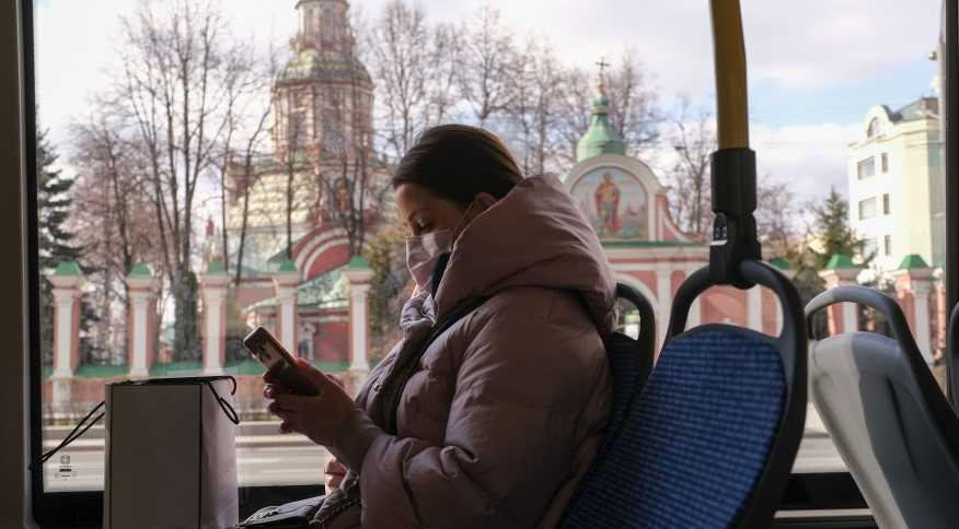 Ônibus em Moscou