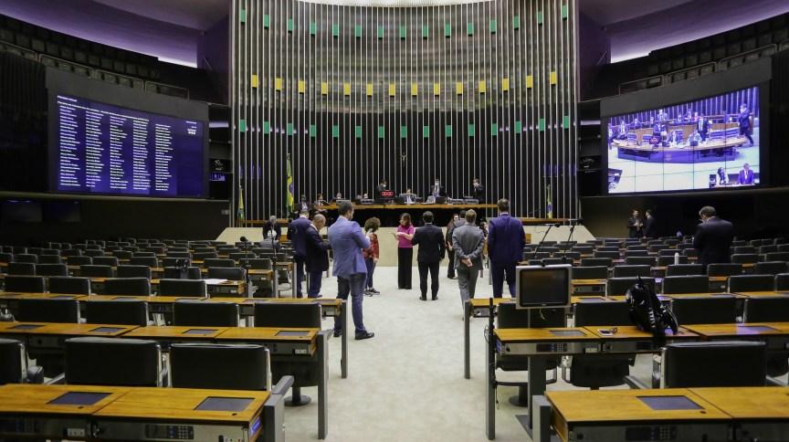 Câmara dos Deputados durante sessão