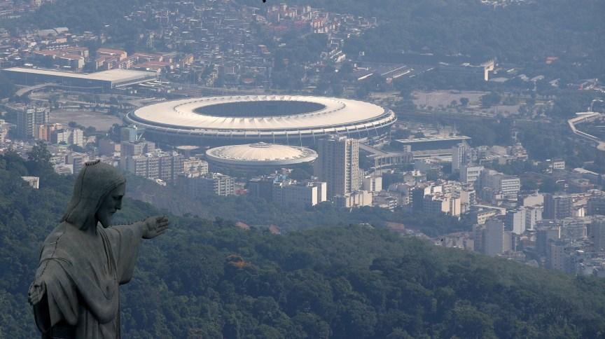 Imagem aérea do complexo do Maracanã, na zona norte do Rio de Janeiro