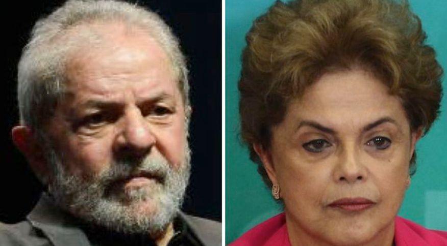 Os ex-presidentes Lula e Dilma Rousseff